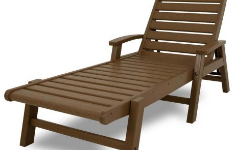 Chaise with Arms Stackable