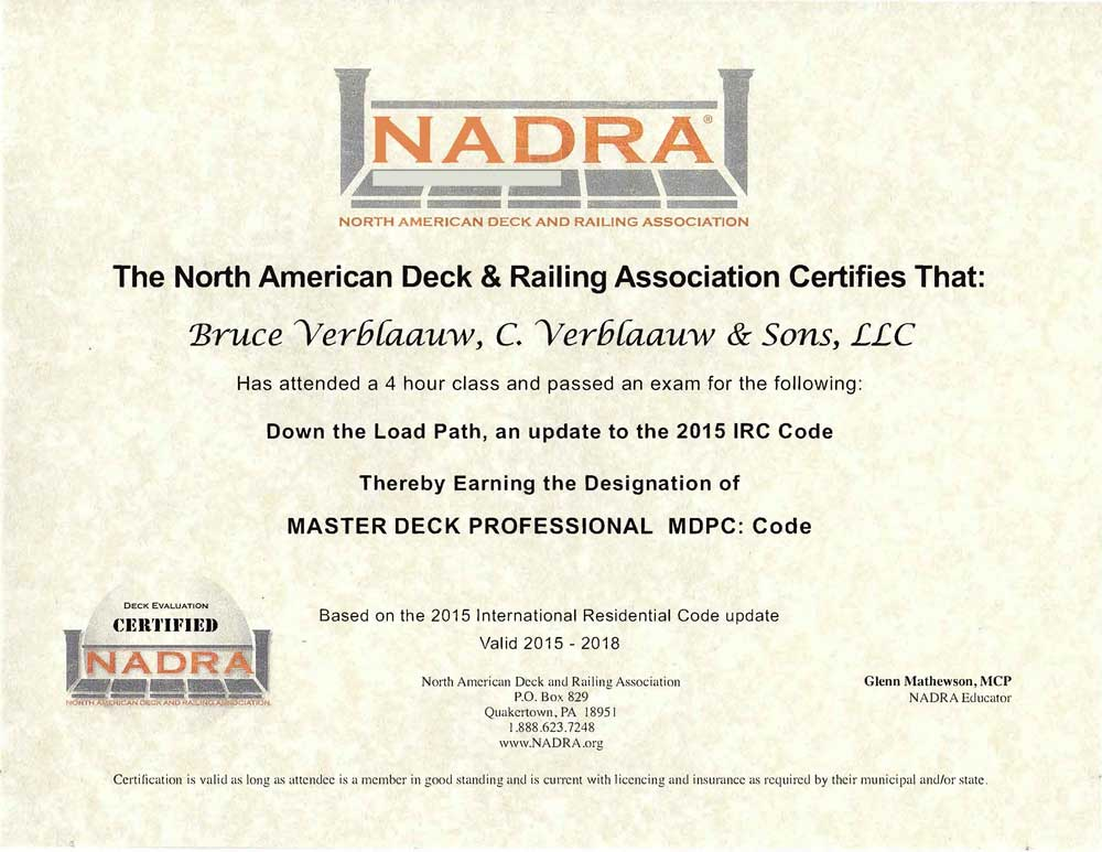 NADRA Certification